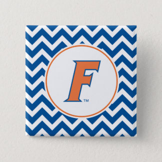 Orange & Blue Florida F Logo Pinback Button