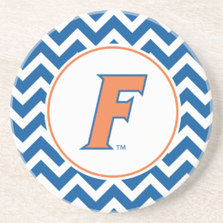 Orange & Blue Florida F Logo Sandstone Coaster