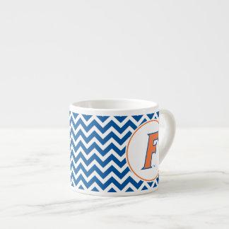 Orange & Blue Florida F Logo Espresso Mugs