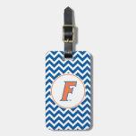 Orange & Blue Florida F Logo Tag For Luggage