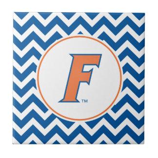 Orange & Blue Florida F Logo Tile