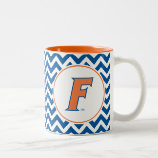 Orange & Blue Florida F Logo Two-Tone Coffee Mug
