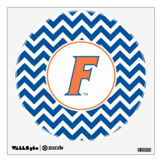 Orange & Blue Florida F Logo Wall Sticker