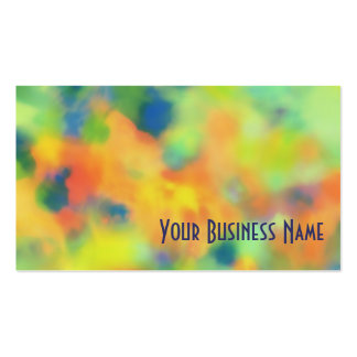 Orange, Blue Green Abstract Business Card