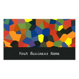 Orange Blue Green Black Abstract Business Card