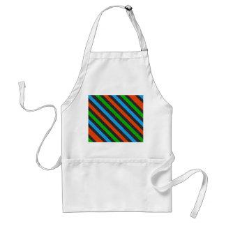 Orange, Blue, Green, Black Glitter Striped Adult Apron