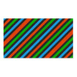 Orange, Blue, Green, Black Glitter Striped Double-Sided Standard Business Cards (Pack Of 100)