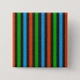 Orange, Blue, Green, Black Glitter Striped STaylor Pinback Button