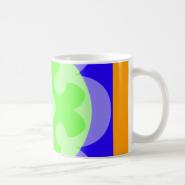 orange blue green coffee mug