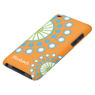 Orange, Blue, Green Pinwheel iPod Touch Case