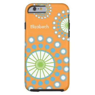 Orange, Blue, Green Pinwheel Tough iPhone 6 Case