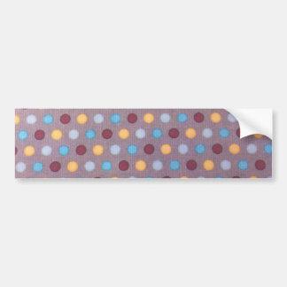 Orange blue maroon dots bumper stickers