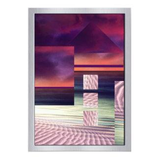 Orange, Blue & Pink Surreal Landscape Card