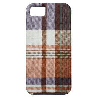 Orange & Blue Plaid iPhone SE/5/5s Case