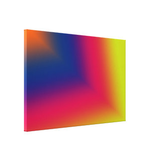 Orange, Blue, Red and Yellow Abstract Canvas Print
