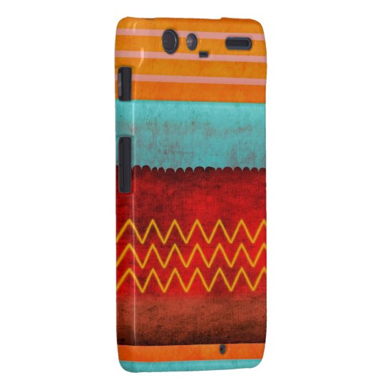 Orange Blue Red Pink Droid RAZR Cover