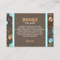 Orange Blue Rustic Pumpkins Books For Baby Enclosure Card