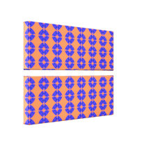Orange blue shapes pattern canvas print
