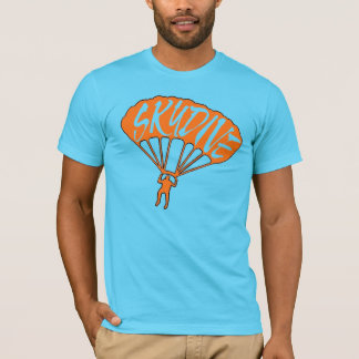 Orange blue skydive fanatic guys tee