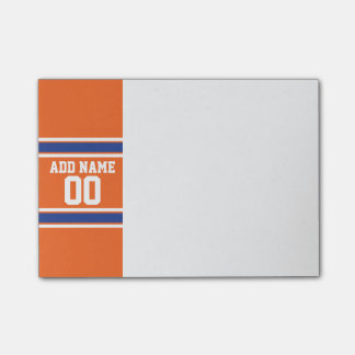 Orange Blue Sports Jersey with Name and Number Post-it® Notes