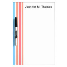 Orange Blue Stripes Dry Erase Whiteboards