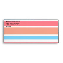 Orange Blue Stripes Envelope