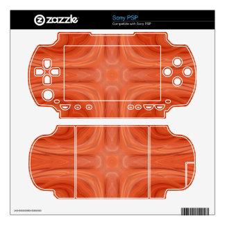 Orange Blue stylish wood pattern Skins For Sony PSP