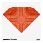 Orange Blue stylish wood pattern Wall Decals