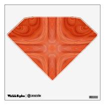 Orange Blue stylish wood pattern Wall Sticker
