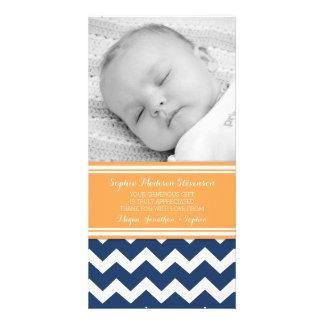 Orange Blue Thank You Baby Shower Photo Cards