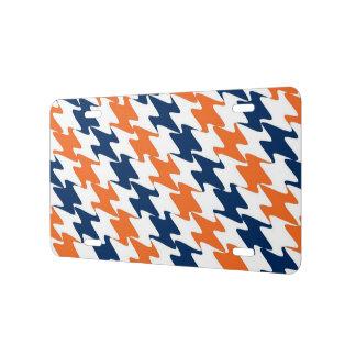 Orange Blue & White Team Colors + Denver Football License Plate
