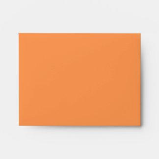 orange boat at sea note card envelope