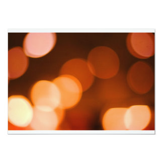 Orange Bokeh Card