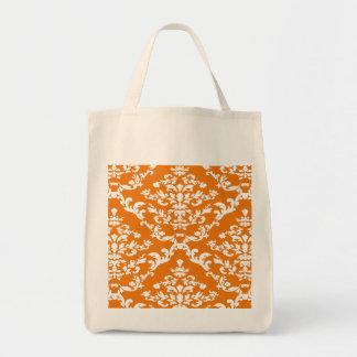 Orange Bold Damask @ Emporiomoffa Tote Bag