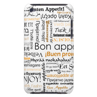 Orange Bon appetit in different languages Barely There iPod Case