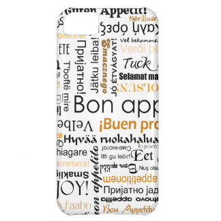 Orange Bon appetit in many different languages iPhone 5C Cover