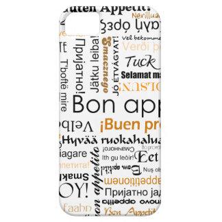 Orange Bon appetit in many different languages iPhone SE/5/5s Case