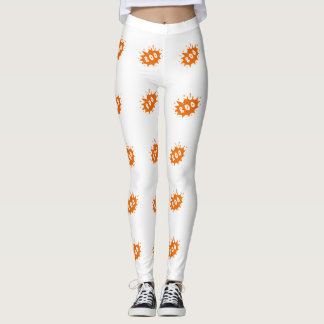 "Orange ""Boo"" Halloween Leggings"