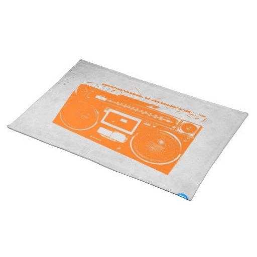 Orange Boom Box Placemats