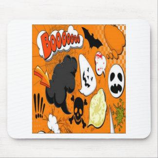 Orange Boom Scary design Mouse Pad