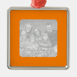 Orange Border Photo Ornament