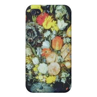 Orange Bouquet de Fleurs dans un Vase Bleu, Jan Br Covers For iPhone 4