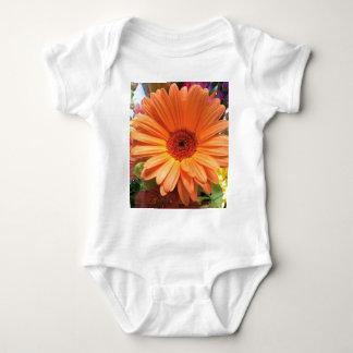 Orange Bouquet Flower Baby Bodysuit