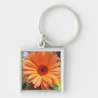 Orange Bouquet Flower Keychain