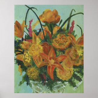Orange Bouquet Poster
