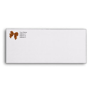 Orange Bow Envelope