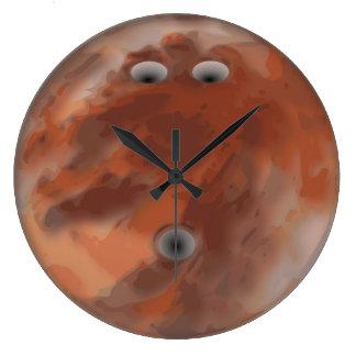 Orange bowling ball clock