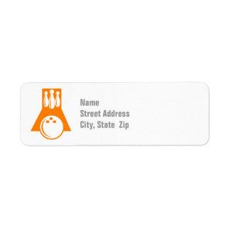 Orange Bowling Label