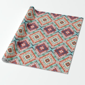 Orange Boxes Wrapping Paper