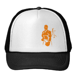 Orange Boxing Trucker Hat